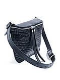 Поясная кожаная сумка черная 6928-11, фото 2