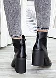 Ботинки демисезонные черные кожаные, фото 4
