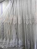 Тюль фатиновая тюль красивая для сплальни или гостинной. Цвет: белый, фото 2