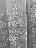 Тюль фатиновая тюль красивая для сплальни или гостинной. Цвет: белый, фото 3