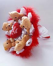 Букет из игрушек мишек плюшевый букет подарок для девушки Любимой
