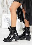 Ботинки демисезонные черные лак-кожа, фото 3