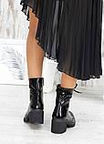 Ботинки демисезонные черные лак-кожа, фото 5