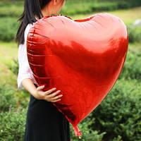 """Куля серце """"Велике серце"""" 75см - червоне для гелію Flexmetal"""