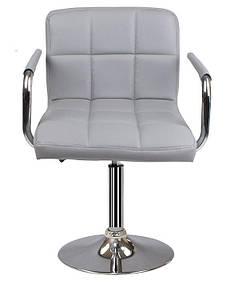 Крісло на млинці хром Артур СДМ сіре для салону