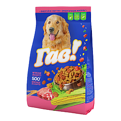 Корм Гав М'яка ясне асорті повнораціонний для дорослих собак всіх порід 0,500 гр