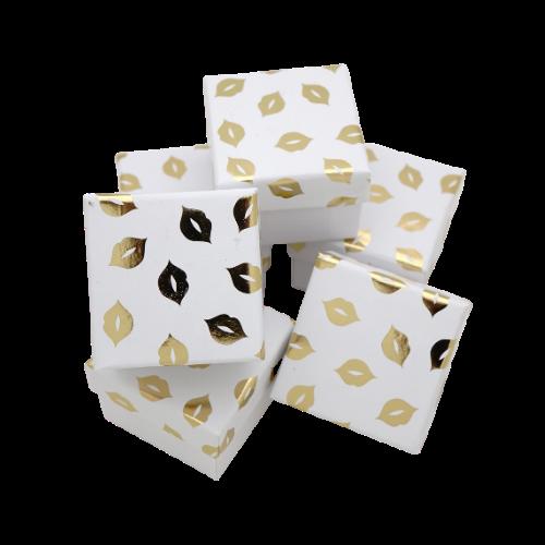 Подарочные коробки оптом box1-19 белый с золотым - фото 1