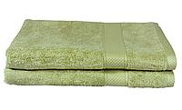 """Рушник махровий 50х90 """"ACT-C_530"""" (бавовна 70%, бамбук 30%) оливковий"""