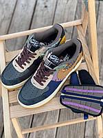 """Кроссы для мужчин Найк Аир Форс 1 Мужские кроссовки разноцветные Nike Air Force x Travis Scott """"Cactus Jack"""""""