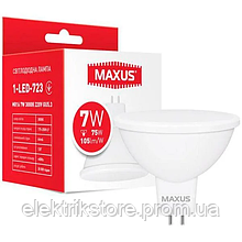 Лампа светодиодная MAXUS 1-LED-723 MR16 7W 3000K 220V GU5.3