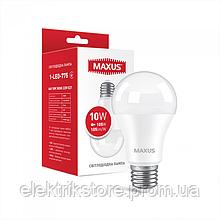 Лампа світлодіодна MAXUS 1-LED-775 A60 10W 3000K 220V E27