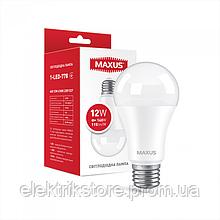 Лампа светодиодная MAXUS 1-LED-778 A60 12W 4100K 220V E27