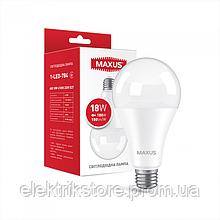 Лампа светодиодная MAXUS 1-LED-784 A80 18W 4100K 220V E27