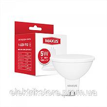 Лампа світлодіодна MAXUS 1-LED-712 5W MR16 4100K 220V GU5.3