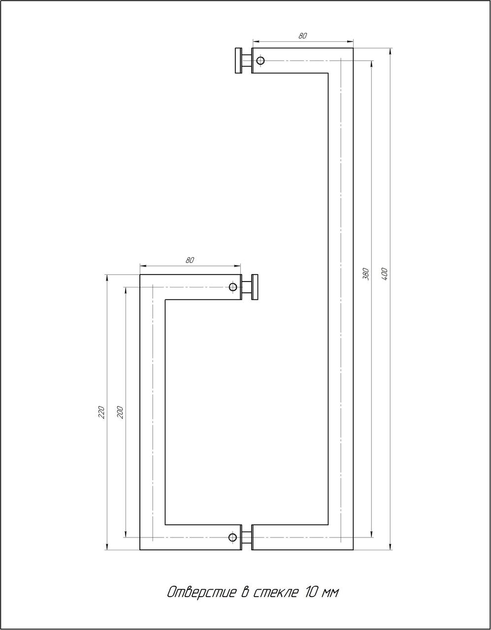ODF-13-06-02 Полотенцедержатель с ручкой для двери душевой кабины, держатель полотенец, полированный