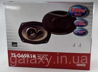 Автомобильные динамики 6х9 2 шт. коаксиальная акустика овальные колонки G6941R