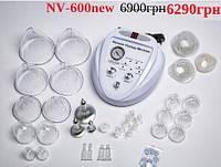 Вакуумный массажёр  NV-600 NEW металлические вакуумно роликовые насадки и 30 шт пластиковых, фото 1