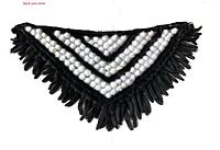 Шаль из норки, норковая накидка, норковый платок черно-белый