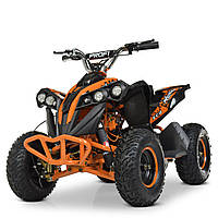 Электроквадроцикл для подростка (мотор 1000Q, 4аккум) Profi HB-EATV1000Q-7ST V2 Оранжевый | Квадроцикл