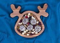 Дитяча тарілка у формі оленя 20х20 см, фото 1