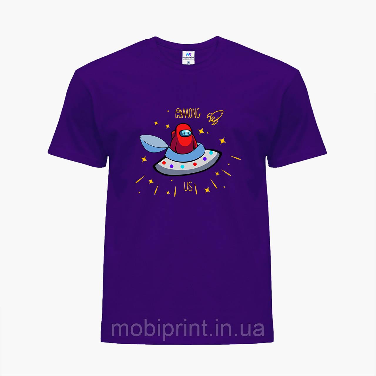 Детская футболка для мальчиков Амонг Ас Красный (Among Us Red) (25186-2583) Фиолетовый