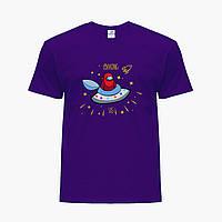 Дитяча футболка для хлопчиків Амонг Червоний Ас (Among Us Red) (25186-2583) Фіолетовий, фото 1
