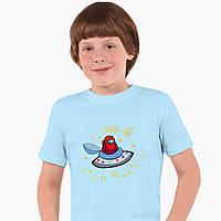 Дитяча футболка для хлопчиків Амонг Червоний Ас (Among Us Red) (25186-2583) Блакитний, фото 1
