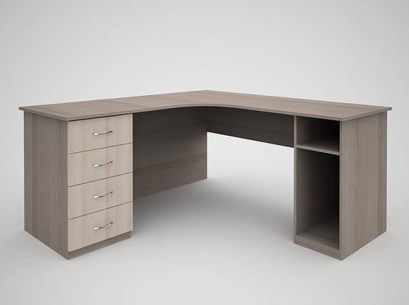 Письменный угловой офисный стол FlashNika / ФлешНика Бизнес СБ-34, фото 2