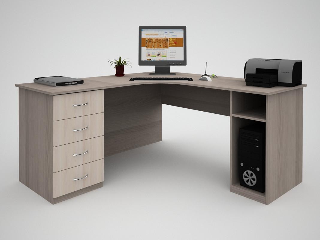 Письменный угловой офисный стол FlashNika / ФлешНика Бизнес СБ-34