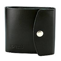 Гаманець жіночий шкіряний маленький на кнопці Handycover HC0062 чорний, фото 1