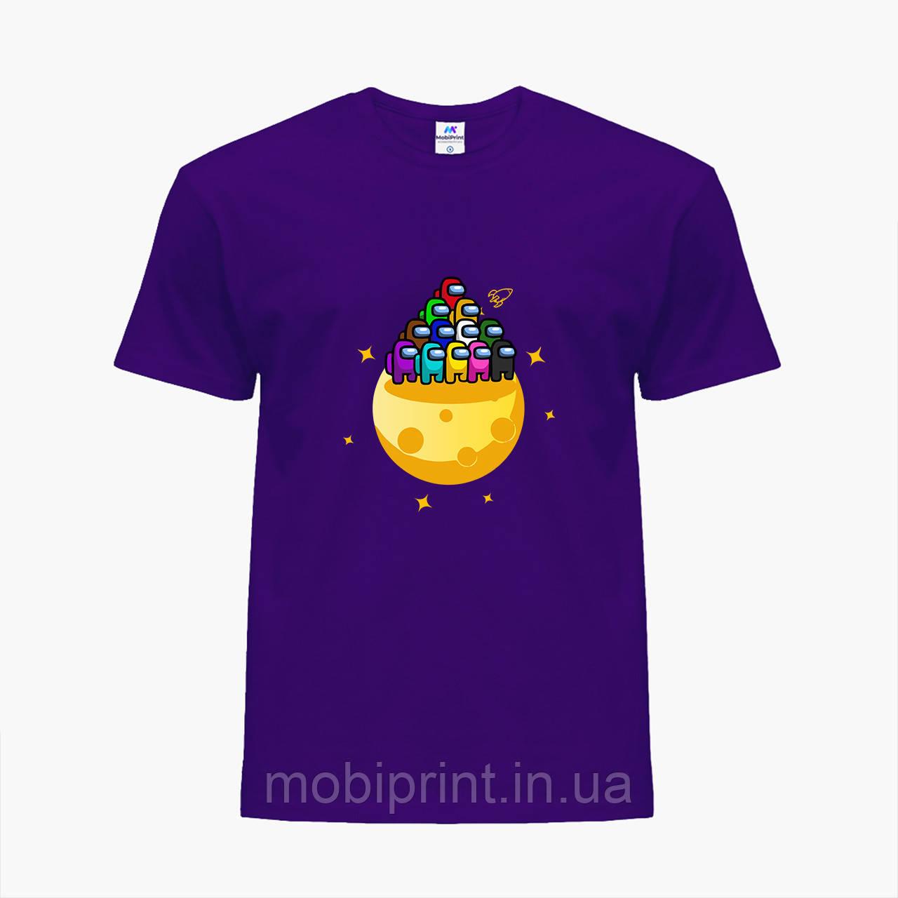Детская футболка для мальчиков Амонг Ас (Among Us) (25186-2584) Фиолетовый