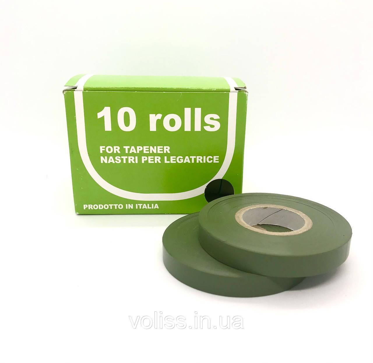 Стрічка для підвязки рослин 10мм*40м 10шт Gieffe Olive Green