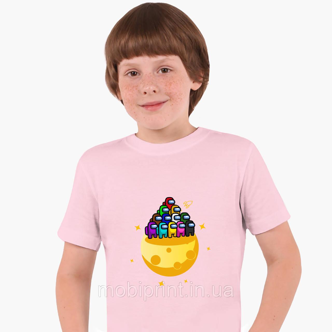 Детская футболка для мальчиков Амонг Ас (Among Us) (25186-2584) Розовый
