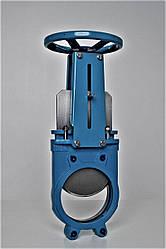 Задвижка чугунная шиберная (ножевая) Blucast Ду 150