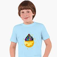 Дитяча футболка для хлопчиків Амонг Ас (Among Us) (25186-2584) Блакитний, фото 1
