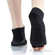 Шкарпетки для йоги нековзні Yoga, 36-38р, відкриті пальці, фото 4