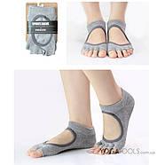 Шкарпетки для йоги нековзні Yoga, 36-38р, відкриті пальці, фото 5