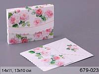 Открытка с конвертом старинные розы 13х10см (cwsnp2421)