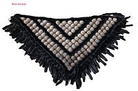 Шаль из норки, норковая накидка, норковый платок черно-серый