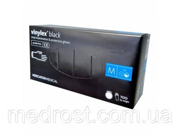 Виниловые перчатки Нестерильные неприпудренные VINYLEX®Black размер М (Китай)