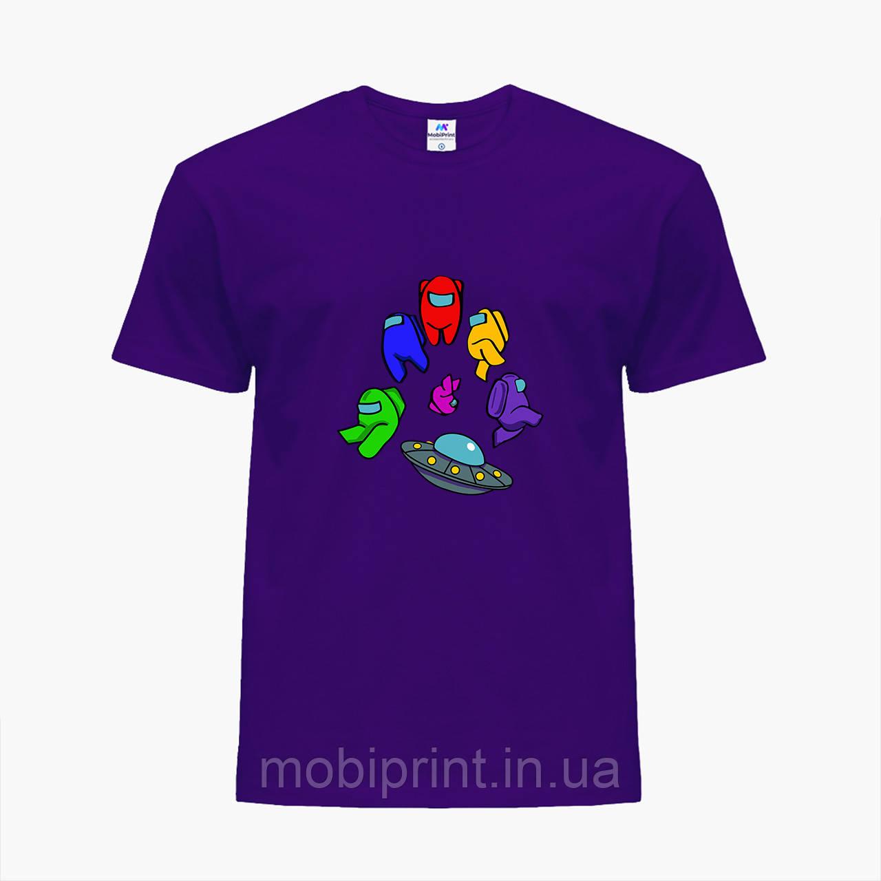 Дитяча футболка для хлопчиків Амонг Ас (Among Us) (25186-2585) Фіолетовий