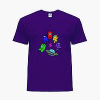 Дитяча футболка для хлопчиків Амонг Ас (Among Us) (25186-2585) Фіолетовий, фото 1