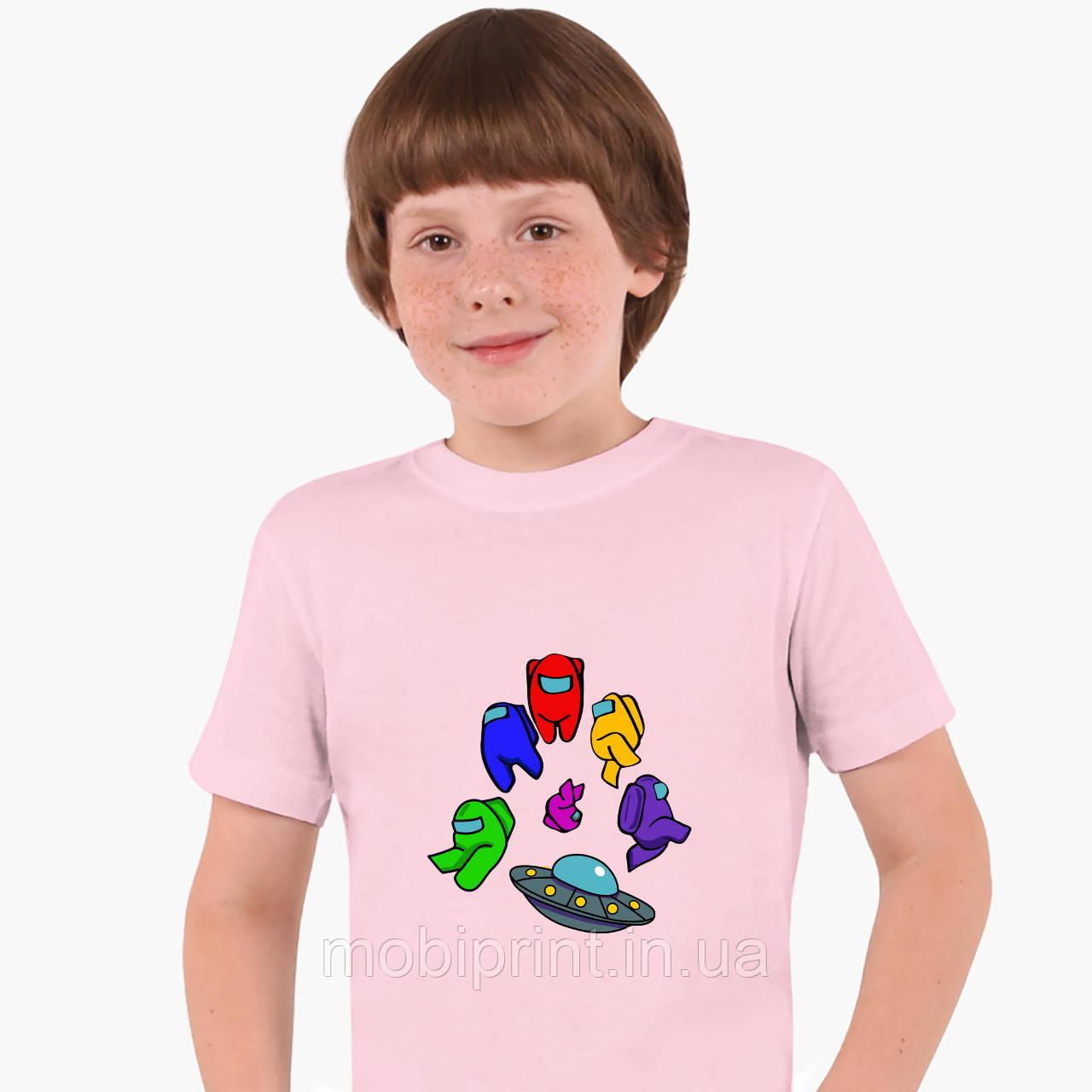 Детская футболка для мальчиков Амонг Ас (Among Us) (25186-2585) Розовый