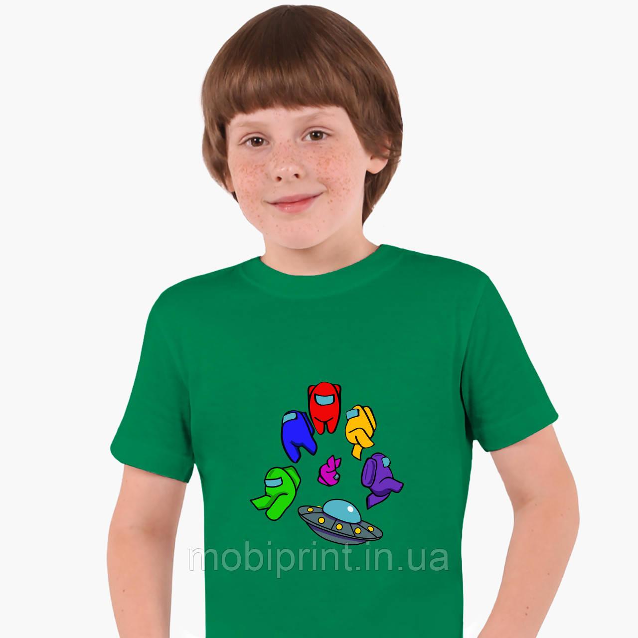 Детская футболка для мальчиков Амонг Ас (Among Us) (25186-2585) Зеленый