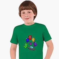 Детская футболка для мальчиков Амонг Ас (Among Us) (25186-2585) Зеленый, фото 1