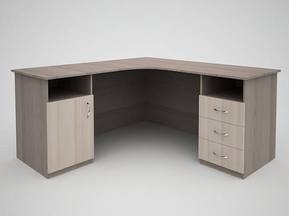 Письменный угловой офисный стол FlashNika / ФлешНика Бизнес СБ-37, фото 2