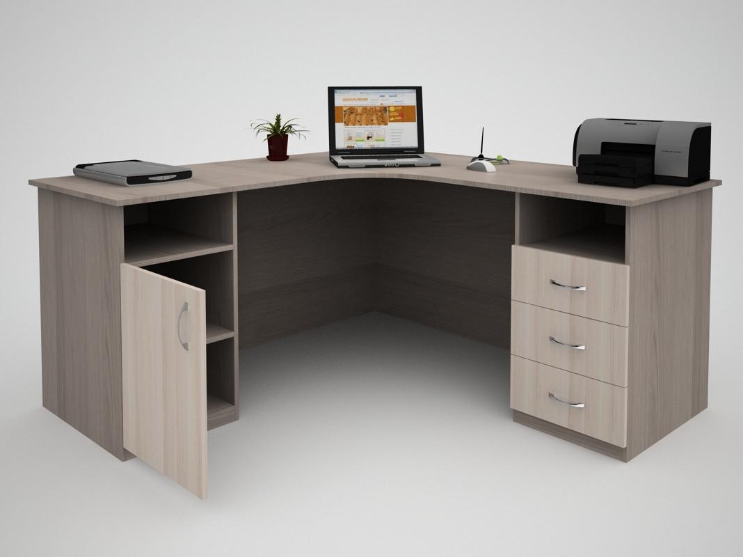 Письменный угловой офисный стол FlashNika / ФлешНика Бизнес СБ-37