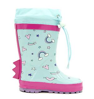 Резиновые сапоги Для девочек Голубой Размеры: 23,24,25,26,27,28,29, фото 2