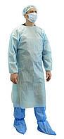 Багаторазовий халат хірургічний на зав'язках із ламінованого спанбонду