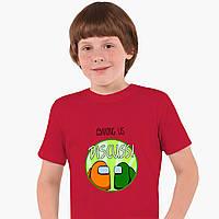 Детская футболка для мальчиков Амонг Ас (Among Us) (25186-2588) Красный, фото 1